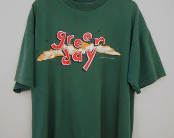 1994 Vintage Green Day Dookie Shirt / 1990s Original Authentic Billie Joe Armstrong Punk Rock Pinhead Gunpowder Concert T-Shirt / Size XL