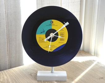"""Record Clock: CHICAGO """"25 OR 6 TO 4"""" Desk or Wall Clock 45 rpm Vinyl Record"""