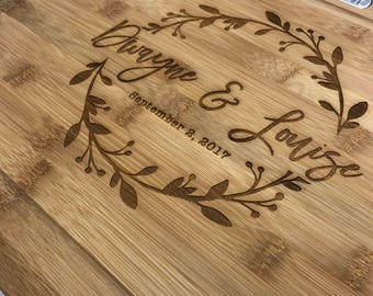 Personalized Cutting Board-Engraved, Custom Cutting Board, Housewarming Gift, Anniversary Gift, Engagement, Personalized Wedding Gift