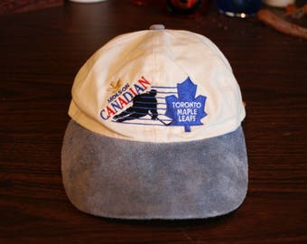 Vintage Toronto Maple Leafs Suede Brim Dad Hat