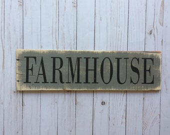 Farmhouse Rustic Sign -  Farmhouse Decor - Wood Farmhouse Sign - Rustic Wood Sign - Rustic Wall Decor