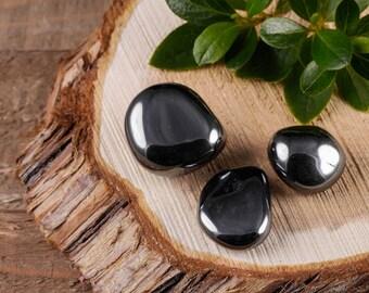 Three Small HEMATITE Tumbled Stone - Hematite Stone, Hematite Crystal, Healing Stone, Healing Crystal, Rocks and Gems Rocks & Minerals E0509