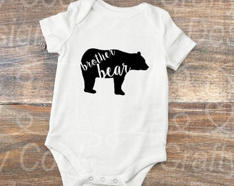 brother bear- sister bear- bear family-bear shirts-sibling outfit-matching shirts
