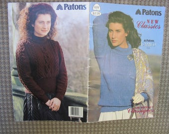 Patons Beehive New Classics / Knitted sweater patterns / Patons 629 / Patons Cameo DK / Les Nouveaux Classiques