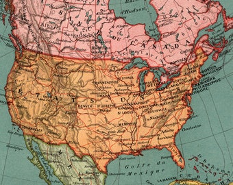 USA Map Digital DownloadNorth America Map Instant Digital - High resolution us map download