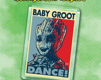 "BABY GROOT 2020 Election Magnet - 2""x3"" Acrylic magnet -Guardians of the Galaxy"