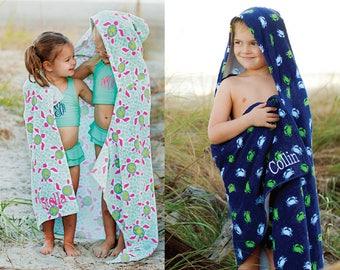 Monogram Hooded Towel, Personalized Hooded Towel, Monogram Kids Beach Towel, Kids Beach Towel, Boys Hooded Towel, Girls Hooded Towel