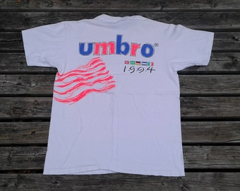 Vintage 1994 Deadstock Umbro USA Soccer double-sided white t-shirt Made in USA t-shirt