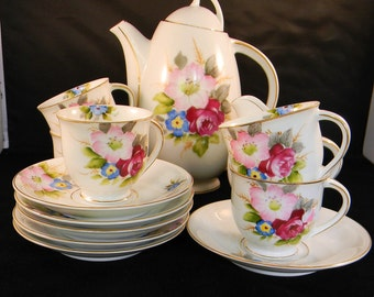 Ohata China Tea/Coffee Set Made in Occupied Japan
