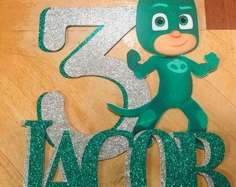 PJ Mask/ Gekko Personalized Cake Topper