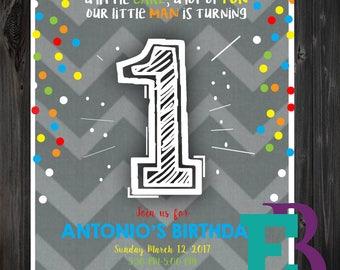 First Birthday Invitation DIGITAL FILE