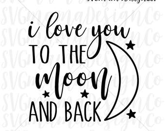 Download I love you to the moon and back   Etsy AU