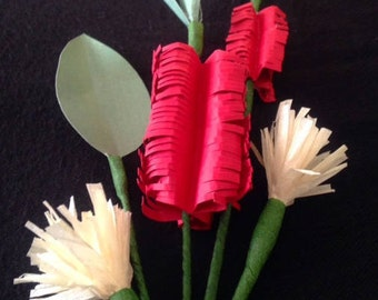 Hand Made Kirigami Australian Native Floral Corsage