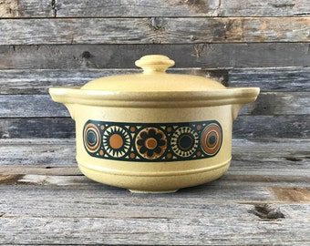 Vintage Staffordshire Potteries Kilncraft Bacchus Casserole Dish, Staffordshire Kiln Craft, Ironstone Tableware