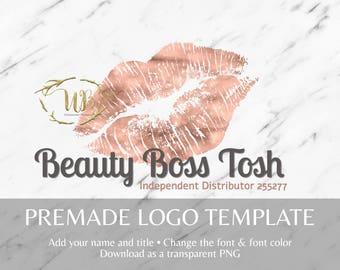 Rose Gold Foil LipSense and Makeup Watermark