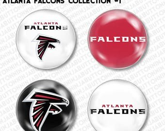 ATLANTA FALCONS PINS - set of 4 mini buttons - dirty birds grits blitz football nfl superbowl (choose your style!)