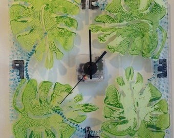 "Wall Clock ""Leafy Greens"""