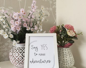 YES to new adventures Illustration A5