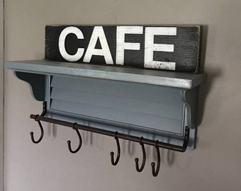Rustic Cafe sign