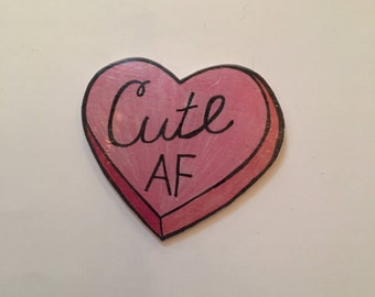 Cute AF Heart Cheapside Pin
