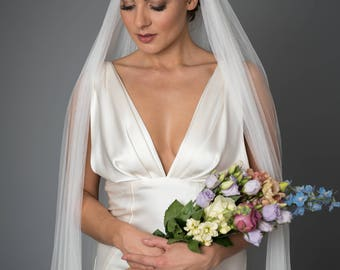 Embrace Veil - Long Soft Tulle Bridal Veil by Miss Kay Seamstress