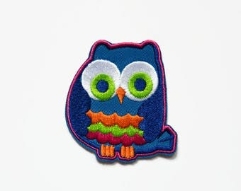 Owl Patch - Applique Motif Patch - Owls Patches - Bird Patch - Cute Patches - Kawaii Patch - Embroidered Patch - Iron On Applique Owl