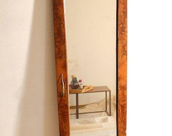 Vintage wood-framed mirror