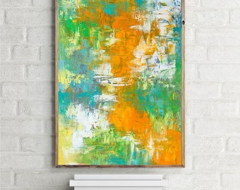"Hope; Large abstract original oil painting 36 x 24"" on canvas Active"