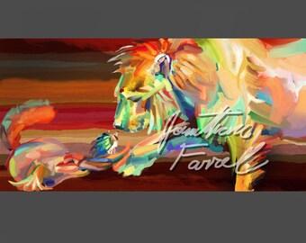 "Kindness (11"" x 14"" print of impressionistic oil painting)"