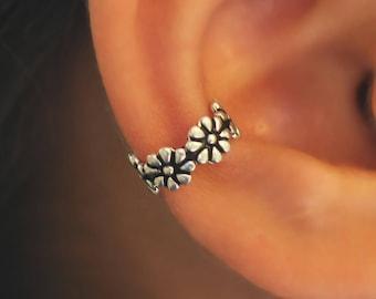 Silver Ear Cuff,Cuff Earrings,ear cuff jewelry,ear cuff piercing,tiny cuff  earrings,fake ear cuff piercing,faux ear cuff jewelry,ear cuff