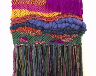 Desert in Bloom -- Woven Fiber Art