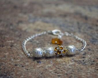 Silver/Pearl Bracelet