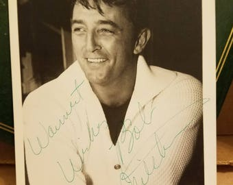 "Robert Mitchum - Movie Star Known for ""Cape Fear"", ""The Night of the Hunter"" and ""Out of the past"" - Rare Autographed 5x7 Photo"