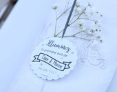 Sparkle stick labels - personalized names + date in packs of 10/30/50/80/125/150