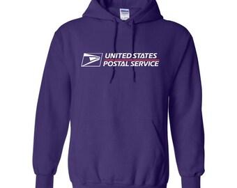 USPS Purple Hooded Postal Sweatshirt. All Sizes Available!
