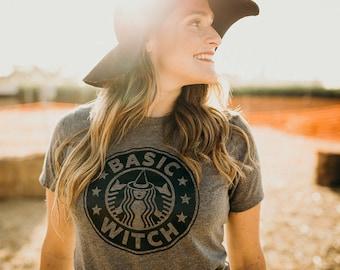 Basic Witch, Basic Witch Shirt, Fall Shirts, Basic Witch Starbucks, Basic Fall Witch, Starbucks Basic Witch, Basic Gray Witch Shirt, Fall