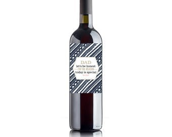 Father's Day Wine/Bottle/Spirit Label Sticker Design - Funny - I'm Special 2 (label only)