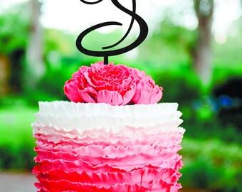 S Letter Cake topper Gold Monogram Wedding Cake Topper Initials Cake Topper Personalised Topper S cake topper letter S cake toppers wooden