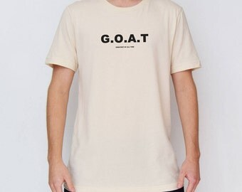 Beige G.O.A.T - Greatest Of All Time T-Shirt