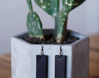 Ingrid Black Earrings | Leather Earrings | Birthday Gift | Anniversary Gift | Gifts under 25 | Handmade | Gifts for Her