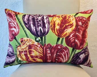"""Fine Art Printed Pillow """"Painted Tulips"""""""