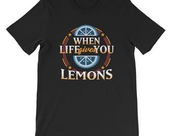 Vegan Shirt, Foodie Shirt, Goals, Inspirational Shirt, Motivational Shirt, Foodie Shirt, Chef Shirt | When Life Gives You Lemons T Shirt