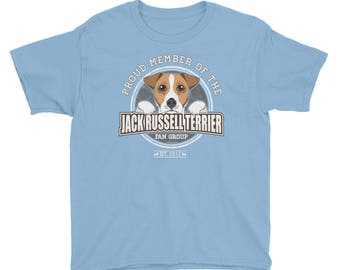 Proud Member of the Jack Russell Terrier Fan Group KIDS T-Shirt Dog Rescue Donation Shirt