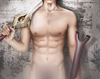 Art Print | Artistic Nude | Chrom - Fire Emblem Heroes | Wall Art | erotic Poster | Nintendo NSFW | Geek & Gamer | hot naked man painting |