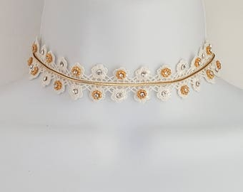 Off White Gold Choker Necklace Women's Jewelry & Accessories