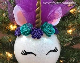 Unicorn ornament  Etsy