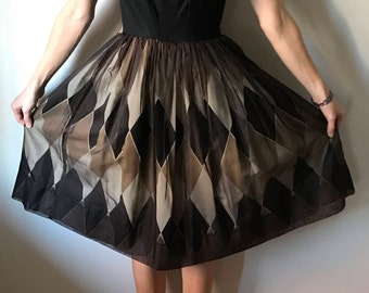 Hand-made 50s Vintage Tailored Party Dress