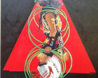 Hoop Dancer Oil Painting