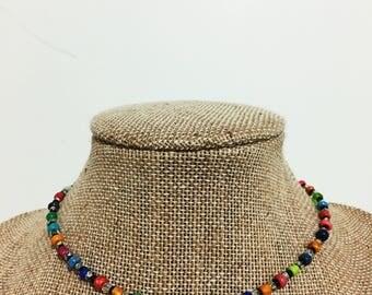 Rainbow Seed-bead Choker
