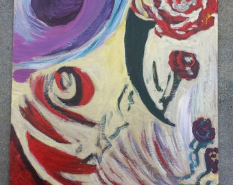 Original Acrylic Painting titled Rose Explosion